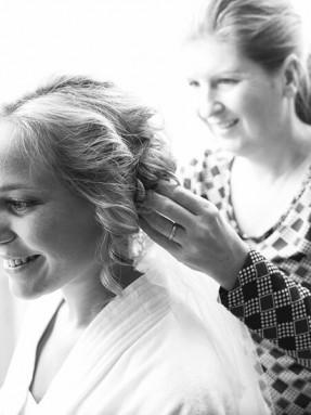 Haarstyling bruid