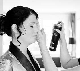 Bruid Kim. Visagie en Haarstyling by Edith Remmen. Fotografie Emanuelle Schins