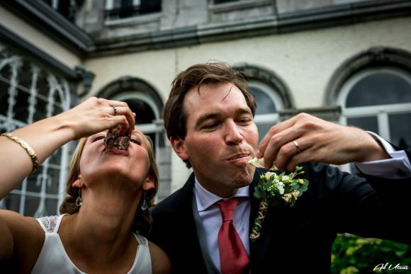 Visagie en haarstyling bruid Georgine